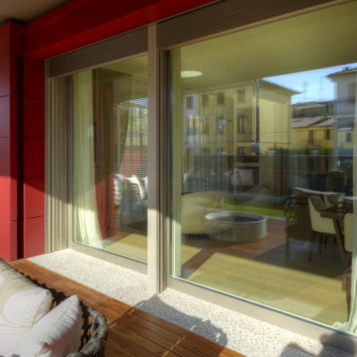 Esterno appartamento con Alu90