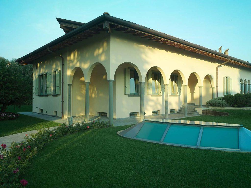 Prospetto principale di Villa Bergamo