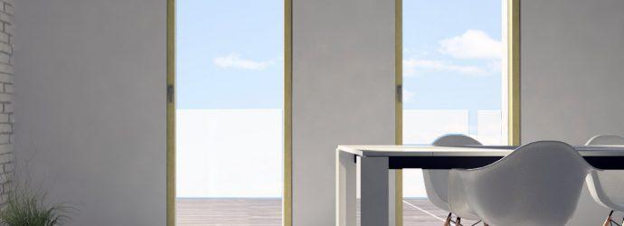 Skyline Door in legno con posa a filo muro