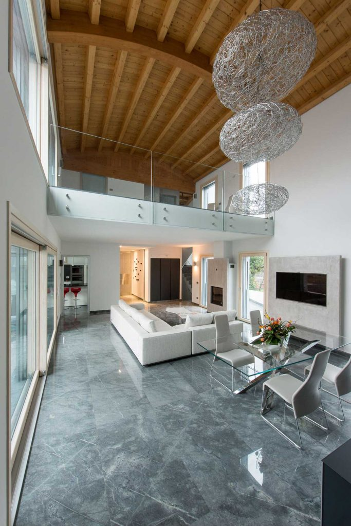 Villa Milano, Alu 90 windows in the living room
