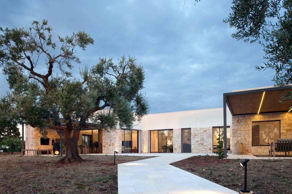 Villa Ostuni, vue de l'entrée arrière