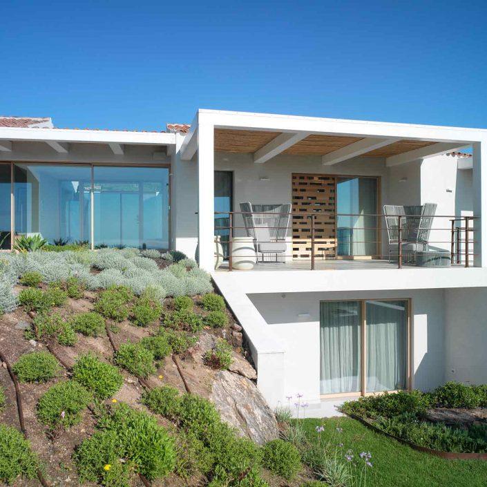 Villa Costa Smeralda, particolare del prospetto a terrazze