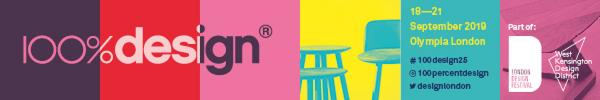 100% Design Londra, banner