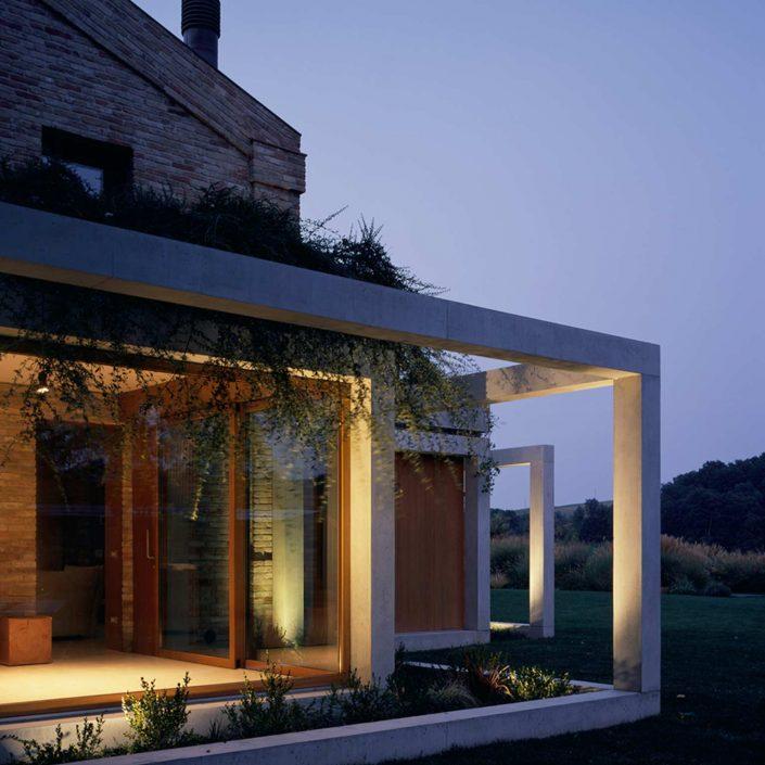 Villa Parma, vista serale