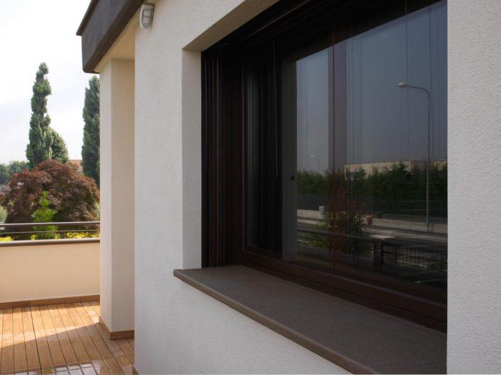 Vista esterna di una finestra Vitrum 90