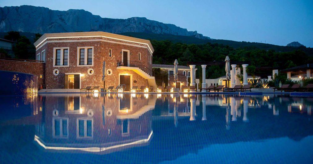 Vista generale del Crimea Breeze Hotel