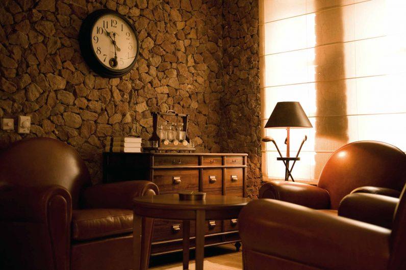 Vista di dettaglio di un salotto del residenze