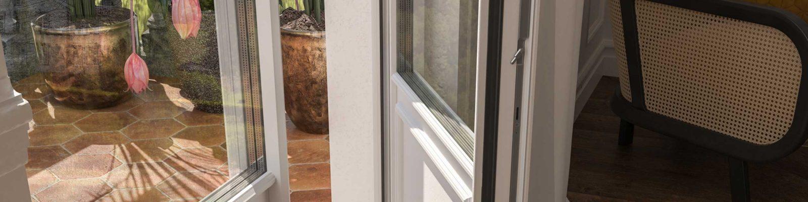 Dettaglio della porta finestra Skyline Classic