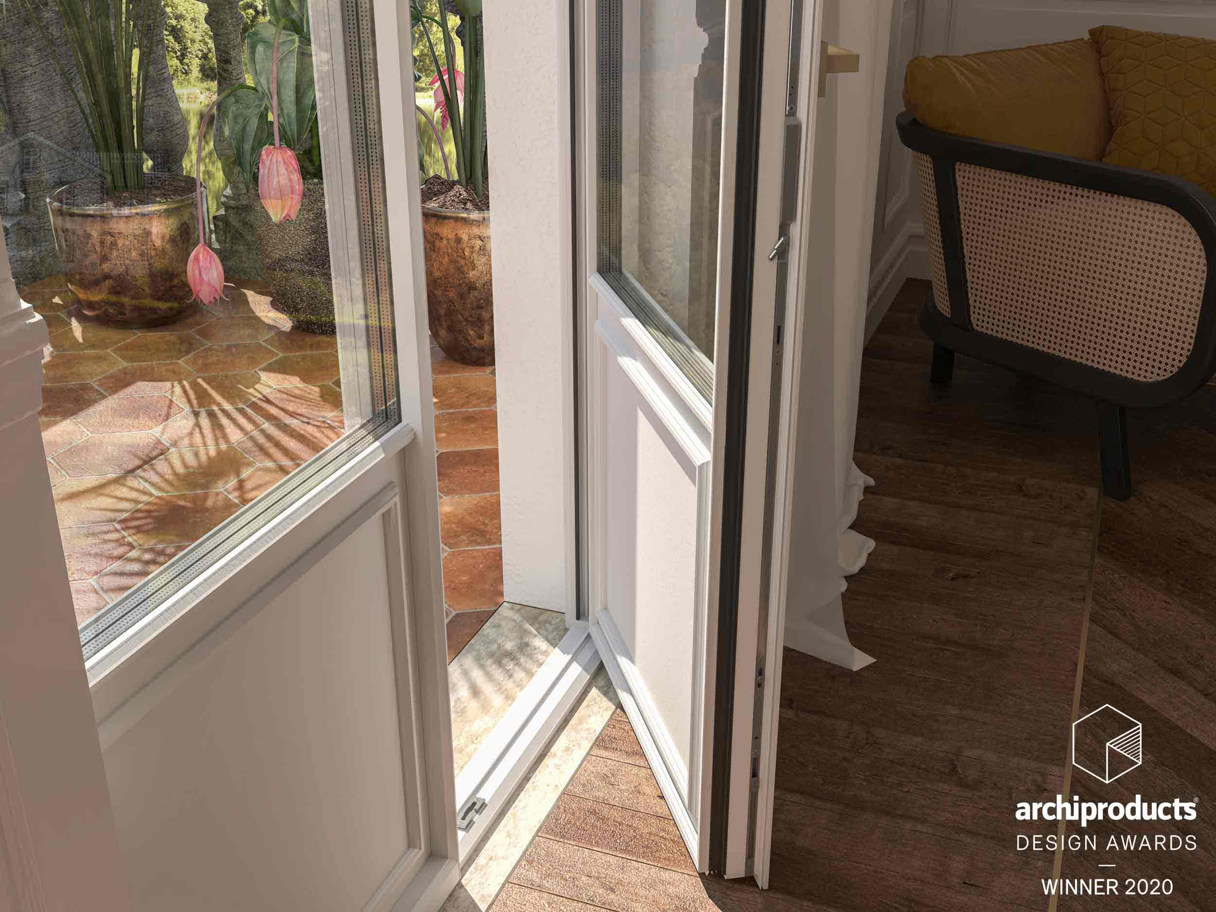 Dettaglio di una porta finestra Skyline Classic